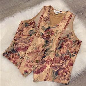 EUC Vintage Ann Tobias Floral Print Vest